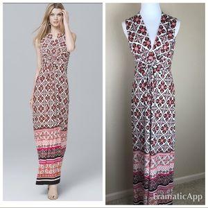 White House Black Market Dresses - WHBM Twist Printed Knit Maxi Dress